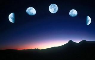 Луна в изменяющихся фазах